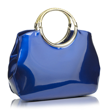 Fashion Women patent Leather Handbag  shell Bag  Candy Color Bolso Top-Handle Tote 33*28*10cm