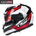 Nueva ff320 ls2 motocicleta del casco de doble lente de la cara llena cascos profesionales hombres capacete casco de carreras de moto cascos dot aprobado
