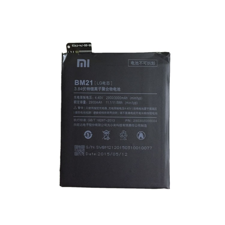 100% TESTED BM21 2830mAh Li-ion Polymer Mobile Phone Battery For Xiaomi Mi Note Replacement Parts