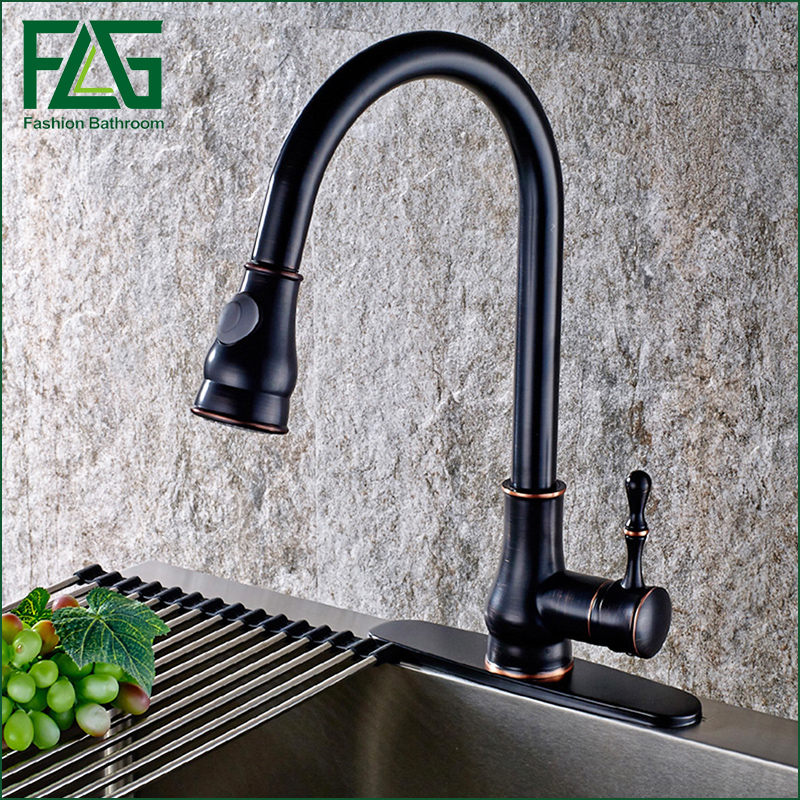 2016 Pull Out Kitchen Faucet, Oil Rubbed Bronze Pull Down Sink Faucet,  Black Kitchen Tap Torneira Cozinha Kitchen Mixer Tap