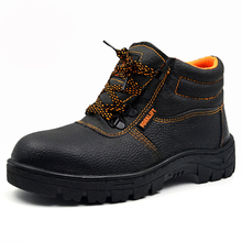 2016 New Breathable Men Work&Safety Shoes Steel Toe Cap Wear-Resistant Oil Waterproof Men Ankle Boots Welding Shoes Big Size