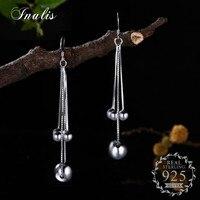 Fantastyczna INALIS Wypadania Kolczyki z Pięciu Okrągłe Balowe Długie Kolczyki dla Kobiet 925 Sterling Silver Pendientes Elegancki Biżuteria