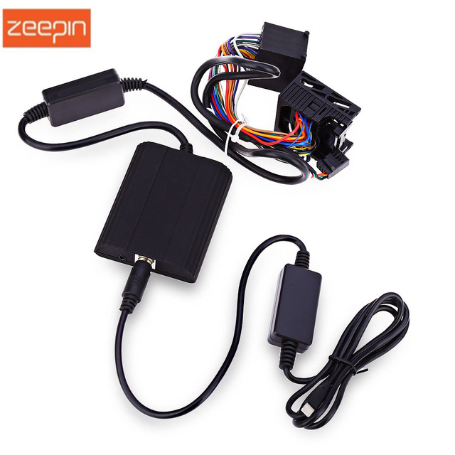 Zeepin Wt Ip5 17 Pin Car Vehicle Cd Adapter Charger Mp3 Audio Interface Aux Usb