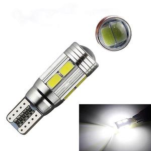 Auto LED Canbus T10 10 SMD 5630 W2.1x9.5d W5W 192 194 White 12V Car wedge parking dome light width lamp marker light lamp bulb.