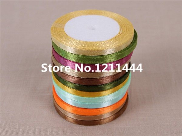 New 97# 0.6cm Wide 25Yards/Roll Orange Yellow Ribbons for Christams Gifts/ Wedding /Birthday /Festival/ Party decoration Ribbon