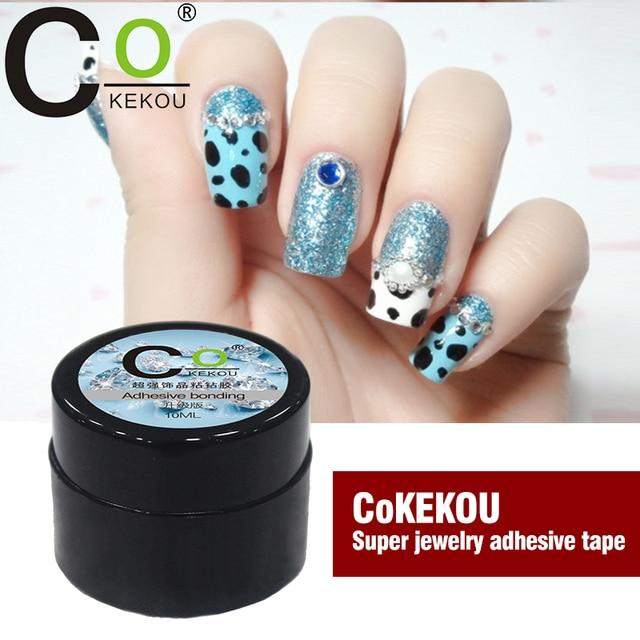 US $3 68 |CoKEKOU nail art rhinestone Làm Móng Tay công cụ đặc biệt gắn bó  dính hợp kim trang sức kim cương Mini nail gel UV & LED
