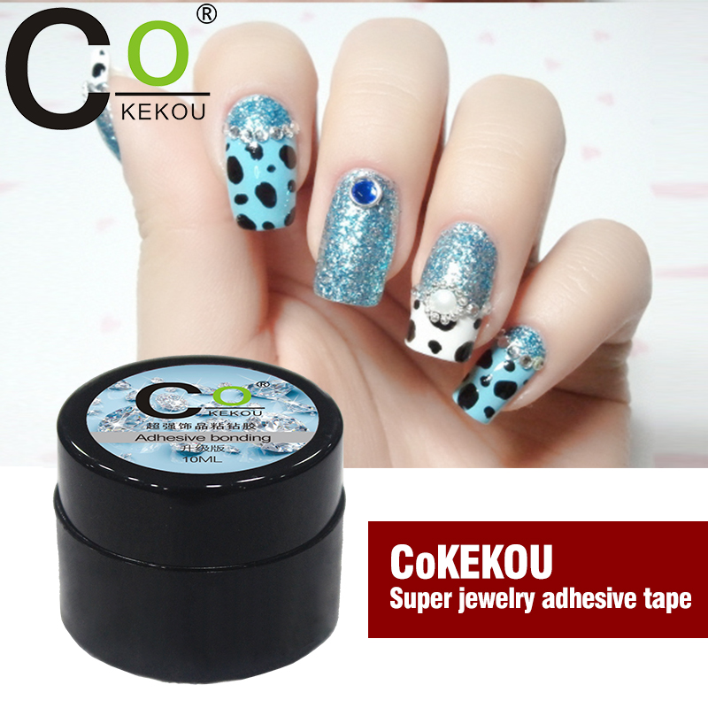CoKEKOU nail art rhinestone Manichiură instrument special sticking adeziv aliaj de bijuterii diamant Mini gel de unghii UV & LED bijuterii lipicioase ge
