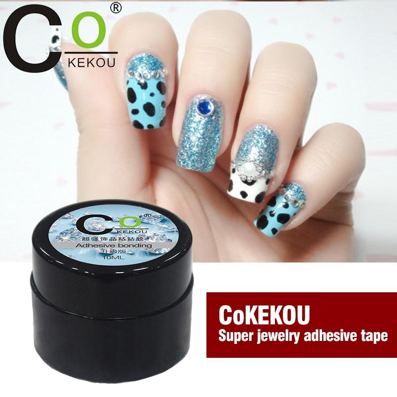 CoKEKOU ноктите кристал маникюр специален инструмент залепване лепило сплав бижута диамант мини нокти гел UV & LED лепкави бижута ge