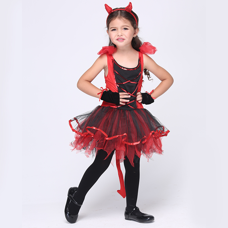 cd9280a6960b 2017 Halloween Costumes Red Cat Girls Cosplay Fancy Tutu Dress Birthday  Party Fantasias Costume Kids Children's Clothes EK089-in Girls Costumes  from Novelty ...