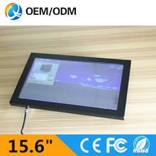 15.6 inch all in one pc / C1037U 1.8GHz Resistive touch screen Resolution 1366×768 industrial computer embedded PC