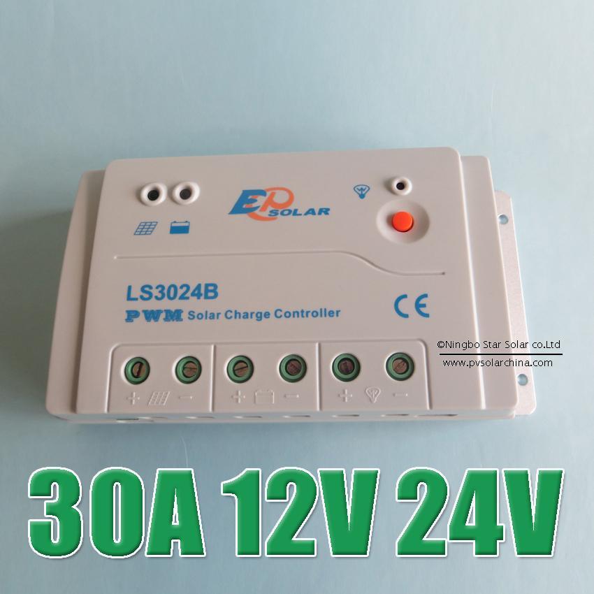Offre spéciale 30A 12 V 24 V LS3024B Landstar contrôleur de Kit de système solaire, 30 ampères ls 3024B régulateur solaire