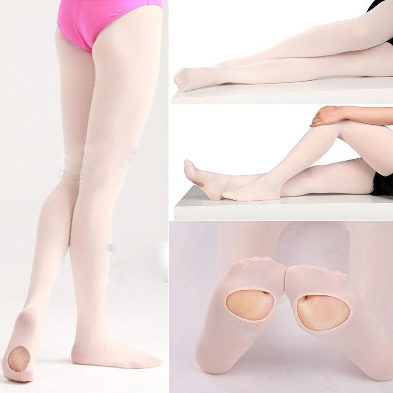 Baby Children Tights Students Kids Girls Dance Ballet Tights Cotton Pantyhose Black White