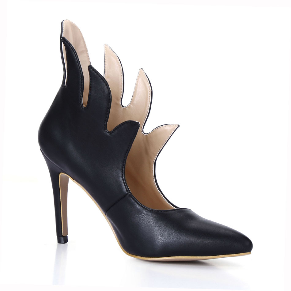 ФОТО 2016 Winter Black Sexy Party Shoes Women Pointed Toe Stiletto High Heels Rave Club Ladies Ankle Boots Zapatos Mujer 70887BT-V2