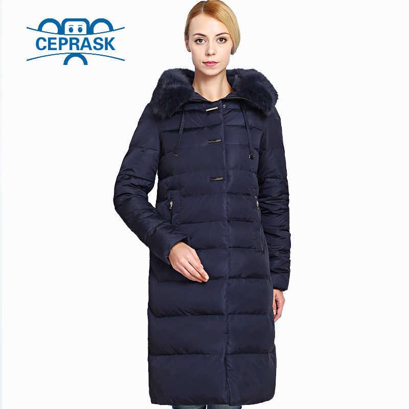 2019 Realmente de Pele de Casaco de Inverno das Mulheres Plus Size Longo Moletom Com Capuz Mulheres Quentes Jaqueta de Inverno Biológico-Fêmea Para Baixo Parkas 6XL CEPRASK