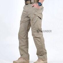 Stretche swat combat брюки-карго карманы тактические повседневные пейнтбол военный военная хлопок