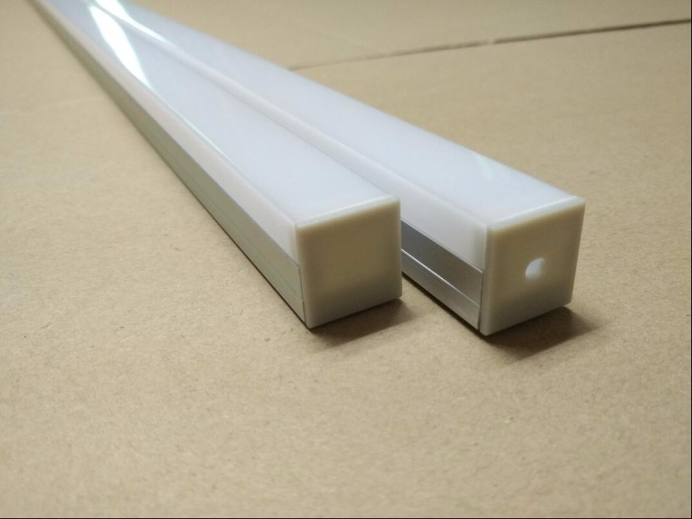 Free Shipping 2m/pcs  130m/lot  wider and suspended led aluminum profiles channel for led strips with cover and end caps