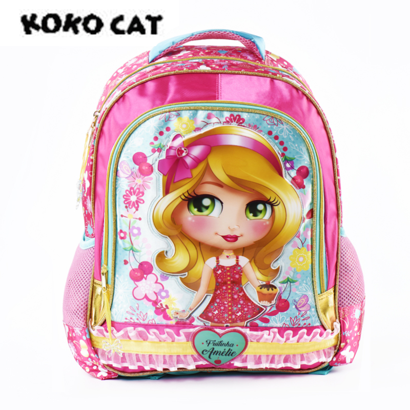 KOKOCAT Fashion School Backpacks For Girls Primary Kids Bags High Quality Large Size Capacity School Bags For Children Girls magic union children school bags for girls boys high quality children backpack primary school backpacks fashion waterproof bags