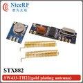433 МГц Superheterodyne ASK ВЧ-модуль комплект (1 шт. STX882 модуль передатчика + 1 шт. SRX882 модуль приемника + 2 шт. соответствующие антенны)