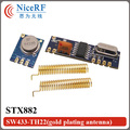 433 MHz Superheterodino RF ASK módulo kit (1 unid módulo transmisor STX882 + 1 unid SRX882 módulo receptor + 2 unids adaptación de la antena)
