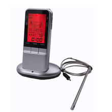 Digital electronic food thermometer, wireless liquid crystal screen barbecue thermometer, free shipping