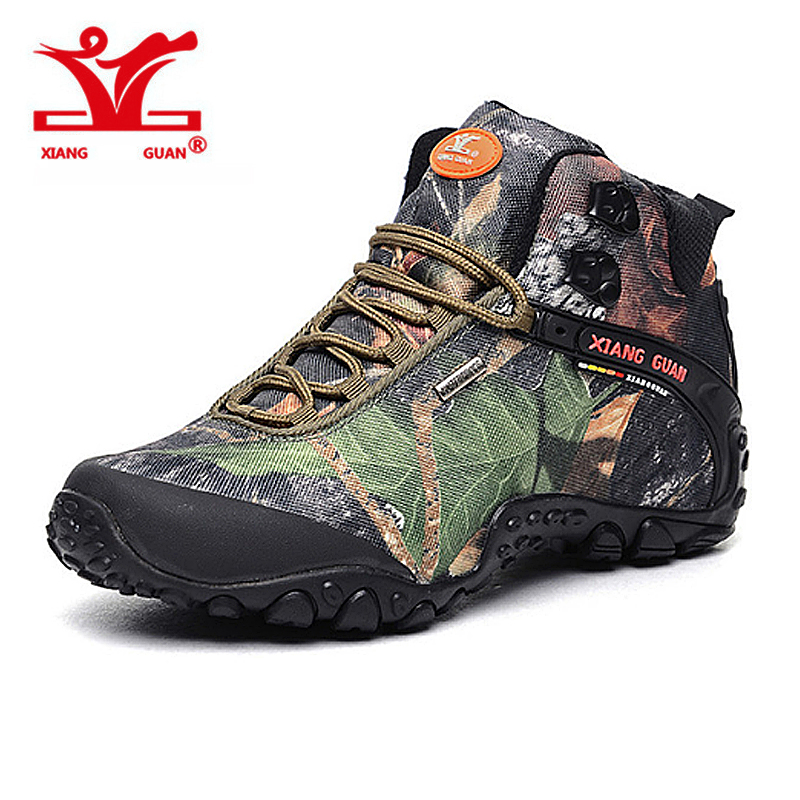 XIANGGUAN New Man Hiking Shoes for Men Women Athletic Trekking Boots Camo Zapatillas Sports Climbing Shoe Outdoor Walking Boot yin qi shi man winter outdoor shoes hiking camping trip high top hiking boots cow leather durable female plush warm outdoor boot