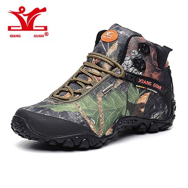 XIANGGUAN New Man Hiking Shoes for Men Women Athletic Trekking Boots Camo Zapatillas Sports Climbing Shoe Outdoor Walking Boot кроссовки dc ryan villopoto shoe black camo