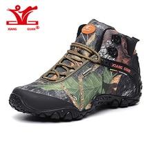 XIANGGUAN New Man Hiking Shoes for Men Women Athletic Trekking Boots Camo Zapatillas Sports Climbing Shoe Outdoor Walking Boot