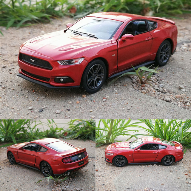 High Simulation 1 36 Mustang Gt Alloy Model Cars Two Door Pull Back