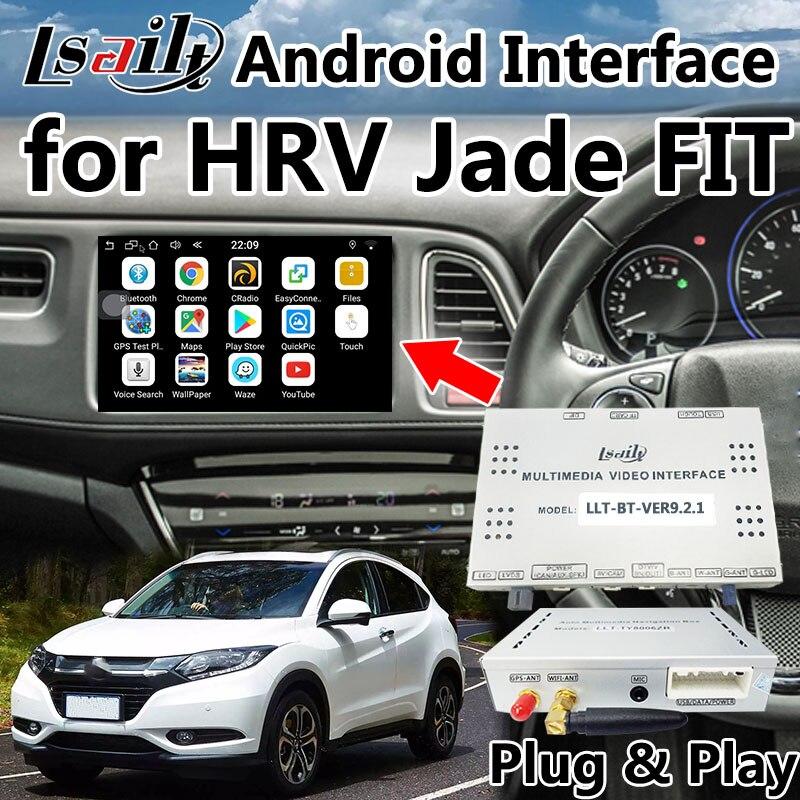 Boîte de Navigation GPS Android prête à l'emploi pour Honda HRV avec Mirrorlink sans fil/USB, WIFI, application, navigation en ligne