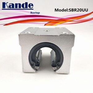 Image 3 - Kande محامل 4 قطعة SBR20UU SBR20 UU SBR20 مفتوحة تحمل كتلة أجزاء التصنيع باستخدام الحاسب الآلي الشريحة ل 20 مللي متر دليل خطي SBR20 20 مللي متر SME20UU SME SBR