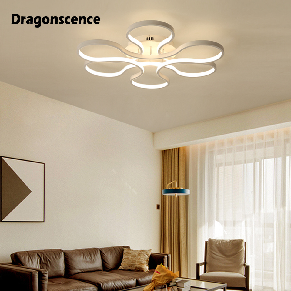 Dragonscence Aluminum Modern Led ceiling lights White Ceiling Lamp Fixtures for living room bedroom dining room office lightingDragonscence Aluminum Modern Led ceiling lights White Ceiling Lamp Fixtures for living room bedroom dining room office lighting