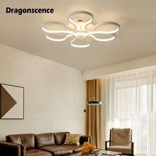 Dragonscence Aluminum Modern Led ceiling lights White Ceiling Lamp Fixtures for living room bedroom dining office lighting