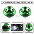 Motorcycle Oil Filler Cap Bolt Screw CNC Billet Aluminum  For KAWASAKI Z1000 2011-2015 Z800 2013-2015 Green