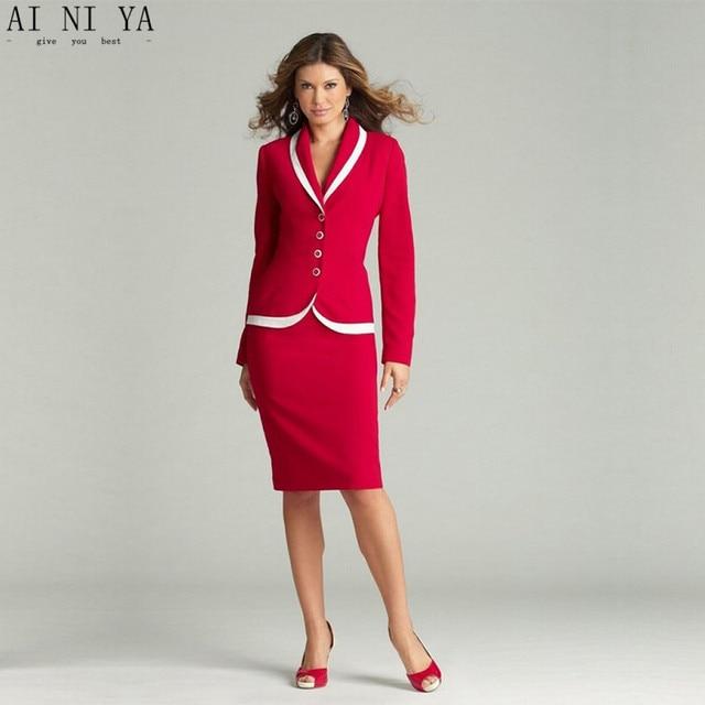 e125544b61 Moda formal Oficina mujeres señoras uniforme diseños negocio iglesia para  el trabajo mujeres pantalón Trajes señoras