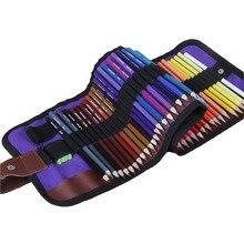1 Set 50 Renkler Ahşap toksik Olmayan HB Renkli Kalemler Set Basit Protable Boyama Sanat Setleri Okul Çizim Kroki boyama Malzemeleri