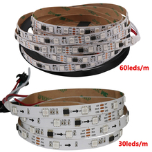 Best price 1M 5M Addressable WS2811 5050 full color RGB LED pixel strip WS2811 IC Waterproof 30/48/60leds/m 12V Black/White PCB