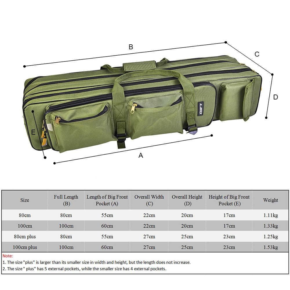 חיצוני 3 שכבה דיג תיק תרמיל 80 cm/100 cm חכת דיג Reel Carrier תיק דיג מוט להתמודד עם תיק נשיאה מקרה נסיעות תיק