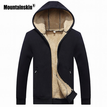 Mountainskin зима Для мужчин куртки флис теплый спортивный костюм мягкий Для мужчин толстовки пальто толстый бархат толстовка Для мужчин s брендовая одежда SA410