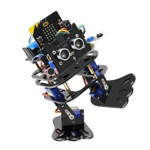 Image 3 - Elecrow マイクロ: ビットプログラマブルダンス DIY ロボット二足歩行人型サーボロボットマイクロビットプログラミング学習キット子供のための