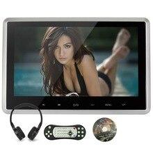 Reproductor de DVD Reposacabezas Coche de la calabaza 1024*600 HD de Pantalla TFT Digital Con Botón Táctil Puerto HDMI 1080 P de Plata marco negro de Auriculares