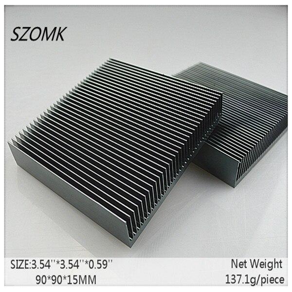 10 pcs, extruded aluminum heat sink 90*90*15mm aluminum metal radiator CPU aluminium case electronic 2014 new
