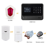 GS G90B Plus WIFI GSM Security Home Alarm System With Flash Siren And Outdoor Waterproof PIR