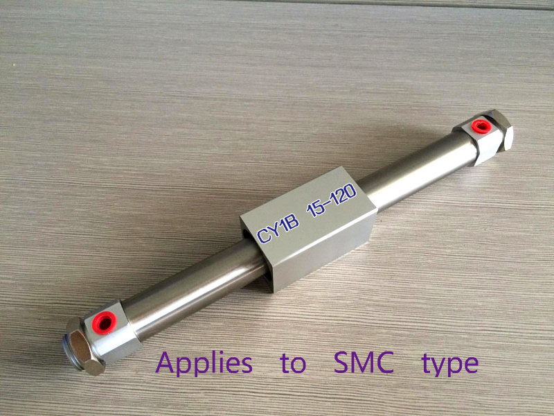 SMC type CY1B15*120/CY1B 15*120/15-120 even magnetic type rod free cylinderSMC type CY1B15*120/CY1B 15*120/15-120 even magnetic type rod free cylinder
