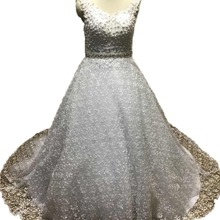 Gardlilac 2019 White Wedding Dresses Ball Gown Court Train