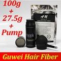 Toppik hair building fibers powder 27.5g 0.97 oz + bolsa de recambio 100g + fibras aplicador/bomba de un conjunto de fibras de adelgazamiento de pérdida de cabello