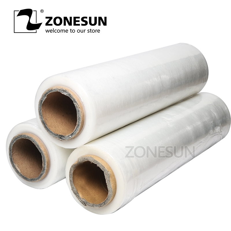 ZONESUN Micron Stretch Wrap,Plastic Stretch Film,Black Hand Pallet Shrink Wrap Factory applicatori di etichette manuali