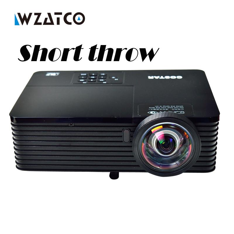 Prix pour WZATCO 6000 Lumens réunion D'affaires L'éducation Daylight Vidéo Full HD 1080 P Numérique 3D DLP Courte portée Projecteur Beamer Proyector