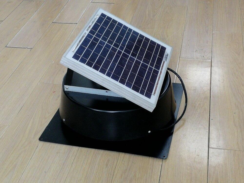 Солнечная мансарда вытяжной вентилятор Крыше установлены вентилятор 660cfm для мобильных Туалет парниковых небольшой фермы домашним животны...