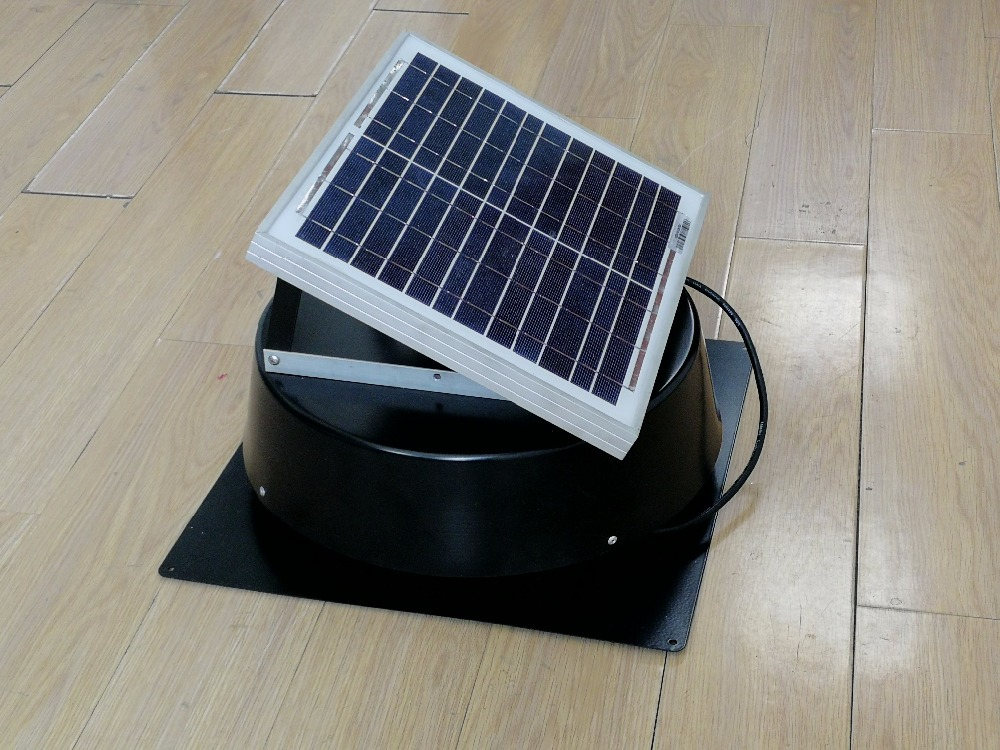 Solar Attic Exhaust Fan Roof Mounted Ventilator 660cfm For
