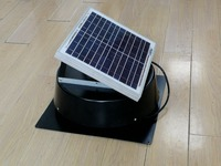 Solar Attic Exhaust Fan Roof Mounted Ventilator 660cfm for Mobile Toilet Greenhouse Small Farm House Pet House 5 years warranty